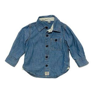 Baby Gap Denim Button Down Shirt